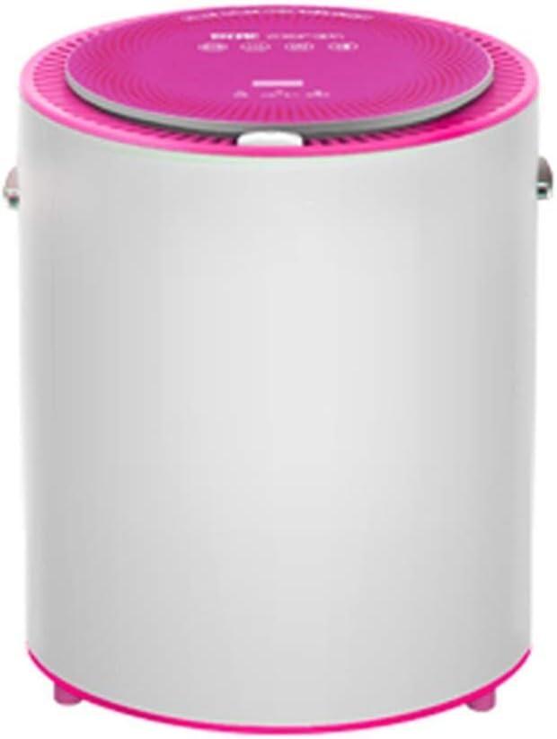 BLWX LY Secadoras portátiles Ropa Secadoras eléctricas del pequeño hogar Triple Desinfección de Secado rápido Smart Touch de Gran Capacidad de Inicio/Dormitorio/apartamento (Color : Rosado)