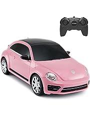 Beetle Remote Control Car, Rastar 1:24 Scale Volkswagen Beetle RC Toy Car for Kids, Pink Beetle