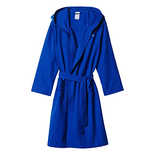 adidas Herren Bademantel MICRO BR, Blau, M, 4055344195789
