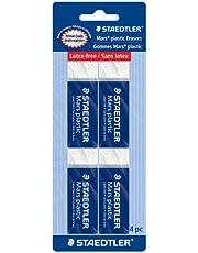 Mars Plastic Eraser 4 Pack ( 526 50BK4)