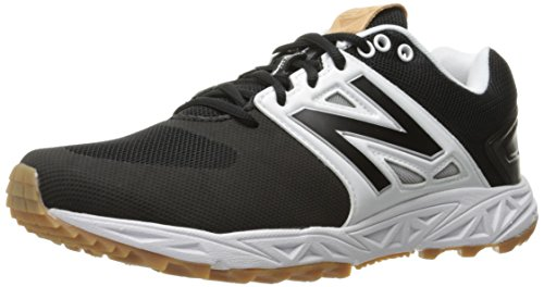 (New Balance Men's 3000v3  Baseball Turf Shoes, Black/White - 12 D(M) US)