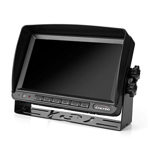 hot sale 2017 Caméra de Recul de 18 Conduit Infrarouges eT étanche IP68 + 7 Pouces Haute Définition Monitor D'affichage de Recul (deux supports)