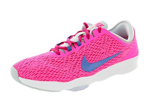 NIKE Women's Zoom Fit Cross Trainer Pink Pow/Fireberry/Pure Platinum/Polar