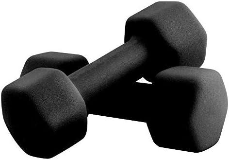 Portzon Set of two Neoprene Dumbbell Hand Weights, Anti-Slip, Anti-roll