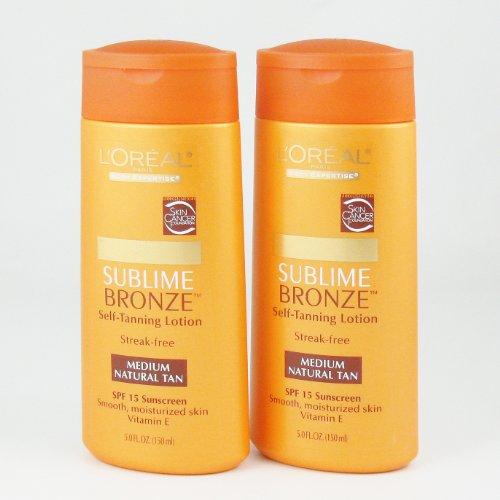 Loreal Paris Body Expertise Sublime Bronze Lotion Auto-Bronzante - Medium Natural Tan (2 Pack)
