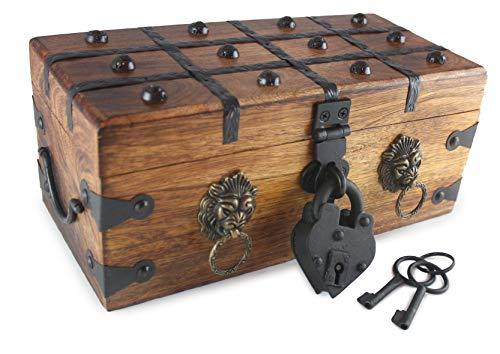 Treasure Heart Box - Well Pack Box Lion Heart Pirate Treasure Chest 12