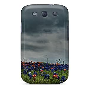 Cute Tpu Mialisabblake Field Of Bluebonnets Indian Paintbrush Case Cover For Galaxy S3 by supermalls