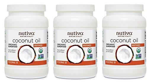 Nutiva Coconut Oil TwlkeW, 3 Pack (15 Ounce)
