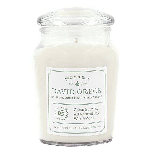 22oz Original Clean Burning Odor Eliminating Candle, 120 Hour Burn Time, Creamy Vanilla