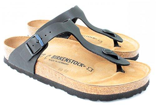 (Birkenstock Stylish 'Gizeh' Birko-Flor Women's Thong Sandals, Matte Black (37 M - 6 to 6.5 US Women - Medium Width))