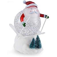 pearlstar 7.3'' Cute Skiing Lighted Snow Globe Figurine