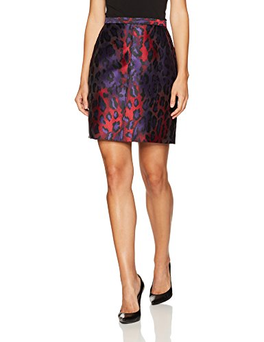 (Anne Klein Women's Animal Jacquard Pencil Skirt, Phoenix/Titian RED Combo, 2)