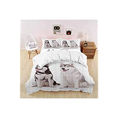 vroselv-home Luxury Durable Soft 4 Piece Duvet Cover Set, Furry Doggies Quilt/Comforter Cover Bedspread Pillowcases for Childrens - Queen Size/NO Comforter: Home & Kitchen