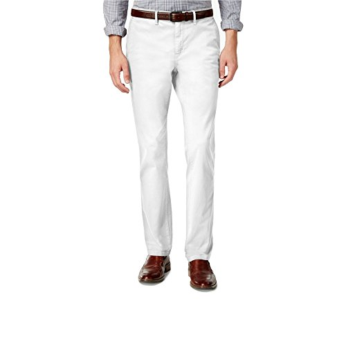 Michael Kors Men's Slim-Fit Garment Dyed Chino Pants (34x32) (Michael Kors Mens Belt)