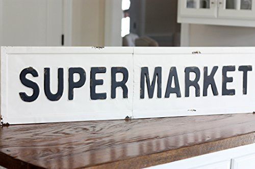 [Super Market Metal Sign, [Joanna Gaines has one in her personal Fixer Upper kitchen]] (Market Collection)