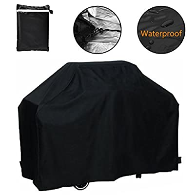 Grill Cover, Waterproof Breathable Outdoor Gas BBQ Grill Cover Large for Weber Holland Char Broil Brinkmann and Jenn Air by F Fellie Cover