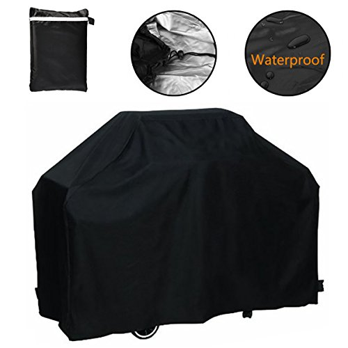 Bbq Grill Cover (Grill Cover, 75 inch Waterproof Breathable Outdoor Gas BBQ Grill Cover Extra Large for Weber Holland Char Broil Brinkmann and Jenn Air)