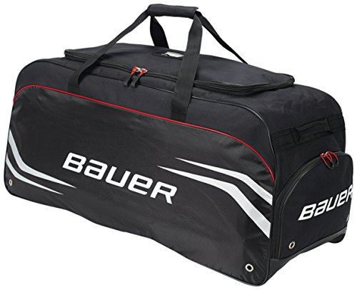 Bauer S14 Goalie Premium Carry Bag, Black/Red, Large (Bauer Skates Bag)