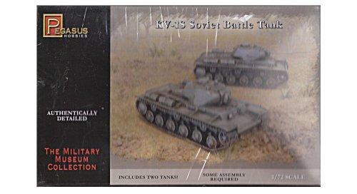KV1S Soviet Battle Tanks (2) (Snap Kit) 1-72 Pegasus