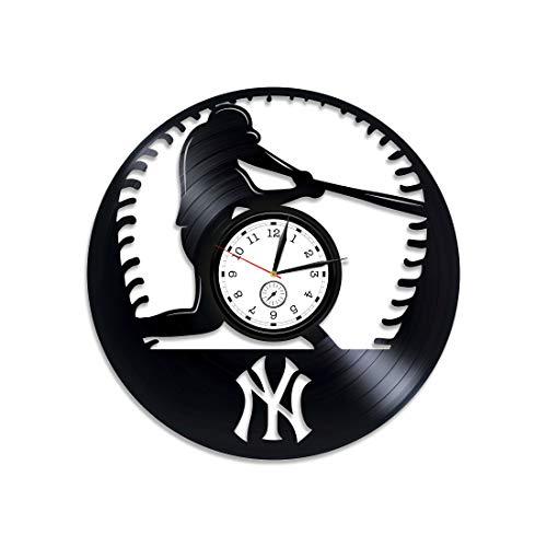 - Kovides Baseball Clock Sport Gift Baseball Wall Clock Large MLB Baseball Vinyl Clock Baseball Vinyl Wall Clock Baseball Vinyl Record Wall Clock Sport Clock Baseball Gift for Man Baseball Team Gift