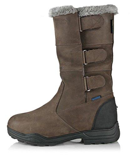 Resistente Brogini Mid Waterproof Mezzo Brown Riding Leather Length II Boots Nubuck dwqwTf
