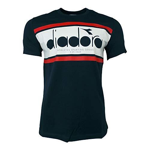 - Diadora T Shirt SS Spectra L Blue Wht