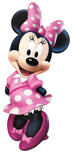 RoomMates-RMK2008GM-Mickey-and-Friends-Minnie-Bow-tique-Peel-and-Stick-Giant-Wall-Decal