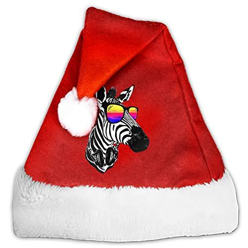 Cool Zebra Santa Hat-Christmas Costume Classic Hat for Adult ()