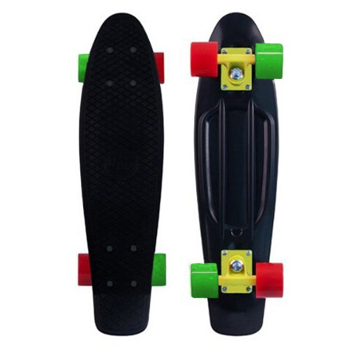 """Blank Vinyl Plastic Cruiser Skateboard Complete Penny Size 22"""" Stereo-Sonic Tail Rasta"""