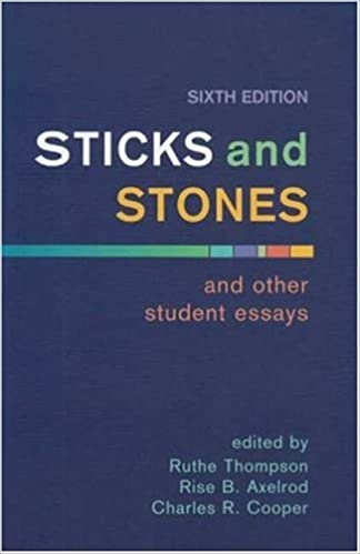 Book Sticks and Stones and Other Student Essays