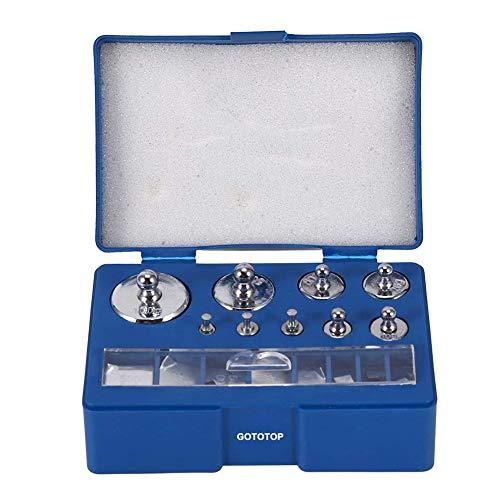 Precision Calibration Weight 1g 2g 5g 10g 20g 50g 100g Scale Balance Weight Calibration Jewelry Scale Weight Set Tweezer 0.1g 0.2g 0.5g 0.1g 0.2g Steel Calibration Weight -