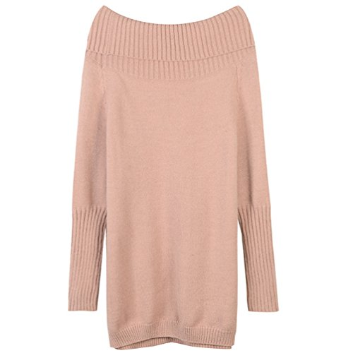 T Pull Top Col Robe Shirt YiLianDa Longue Casual Chandail Tricot Picture Sweater Shirt As Femme Automne Sexy Manche Hiver Bateau 8fwqREq