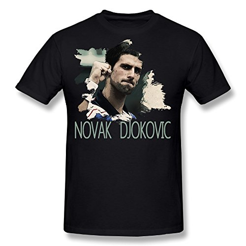 Price comparison product image MASTER Men's Novak Djokovic Tennis Players T Shirt Short Sleeve Cotton Tee