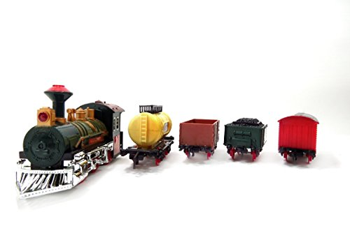 - AMPERSAND SHOPS Continental Express Toy Train Track Set (Battery-Operated)