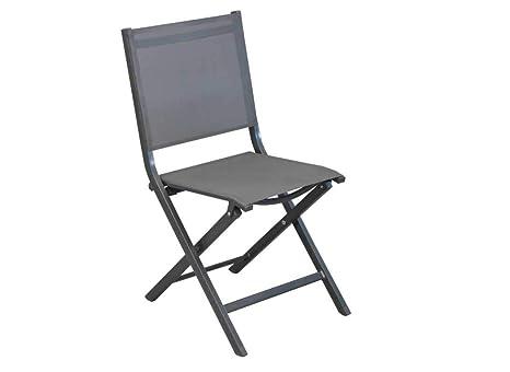 Lot de 6 chaises Pliantes Théma TPEP GrisGris: Amazon