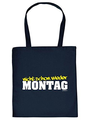 MONTAG - -Tote Bag Henkeltasche Beutel mit Aufdruck. Tragetasche, Must-have, Stofftasche. Geschenkidee