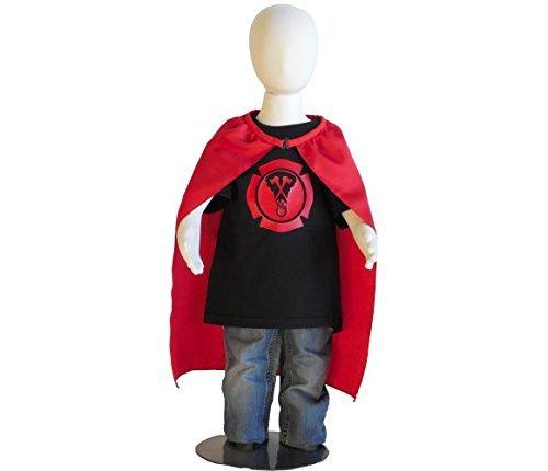 Halloween Costume. Firefighter superhero kids costume for birthday