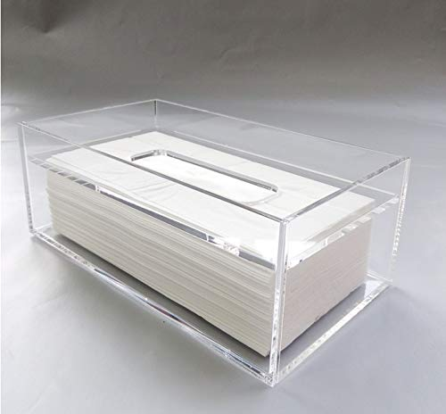 (VietFA Tissue Boxes - Creative Transparent Tissue Box Clear Napkin Holder Lovely Acrylic Rectangular Holder Box Cover 1 PCs)