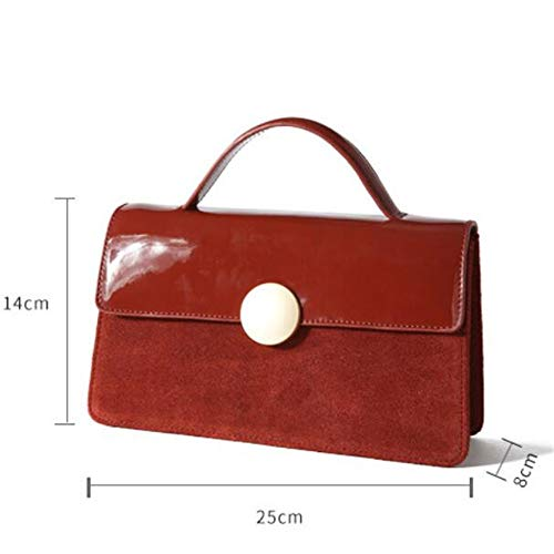 Bag Quadrato Tracolla Vernice Tote GTMLG In A Crossbody Retro Trapezio Borsa Borsa w6THfF