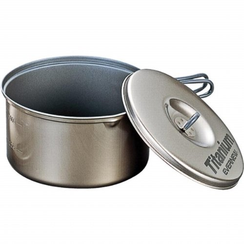 Evernew Titanium Non-Stick Pot Set L with Handle (1.3 L + 1.9 L)