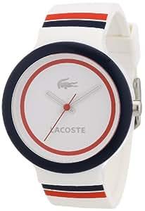 Lacoste 2020034 - Reloj analógico de cuarzo unisex con correa de silicona, color multicolor