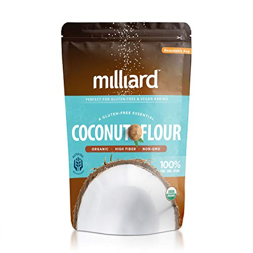 Milliard Organic Coconut Flour (5 lb) Batch Tested Gluten-Free, Non-GMO and Vegan 100% Pure High Fiber (Substitute All Purpose Flour For Coconut Flour)