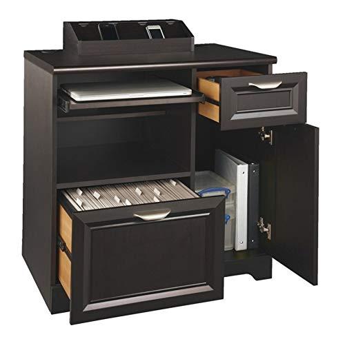 Mount-It Sit Stand Workstation Standing Desk Converter with Dual Monitor Mount Combo, Ergonomic Height Adjustable Tabletop Desk, Black