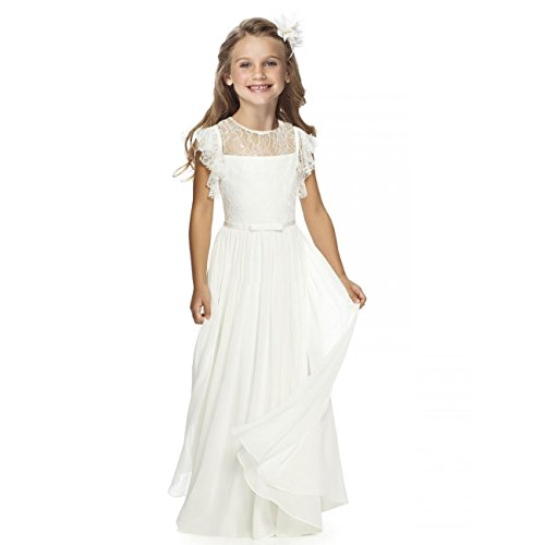 Fancy Girls Holy Communion Dresses 1-12 Year Old Off White Size 6 (Ivory First Communion Dress)
