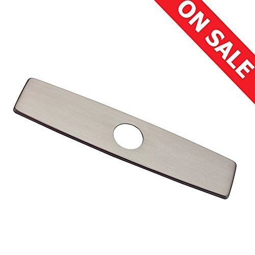 Brushed Satin Chrome Single (WENKEN 9.6-Inch Kitchen Sink Faucet Hole Cover Deck Plate Escutcheon ,Brushed Nickel)