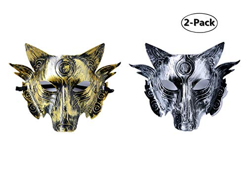 Cosplay Wolf Costume Mask Full Face Mask for Men -