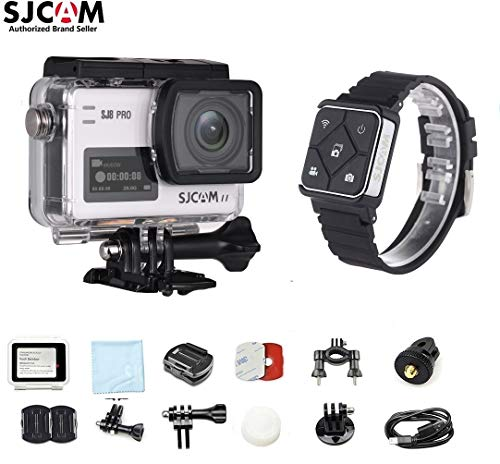 SJCAM SJ8 PRO Kit{SJ8 PRO Camera with Accessories, SJCAM Remote Watch}4k/60fps Sports Cam with Ambarella H22 Sensor,EIS,170°Wide-angle 2.33″ Touchscreen,1200mAH Battery for Underwater,Outdoor Activity For Sale