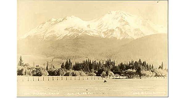 Mt Shasta Ca >> Amazon Com View Of Mt Shasta Mount Shasta California