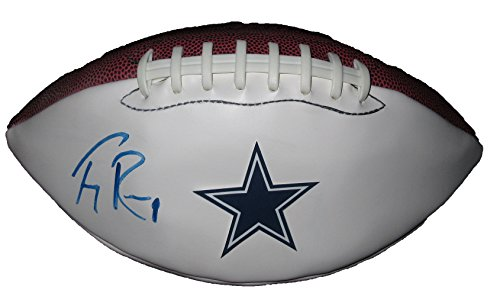 (Tony Romo Autographed Dallas Cowboys Logo Football W/PROOF, Picture of Tony Signing For Us, Dallas Cowboys, Pro Bowl)