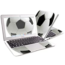"Mightyskins Protective Skin Decal Cover for Apple MacBook Air 13"" with 13.3 inch screen wrap sticker skins Soccer"